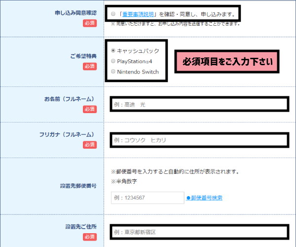 NURO光新規申込