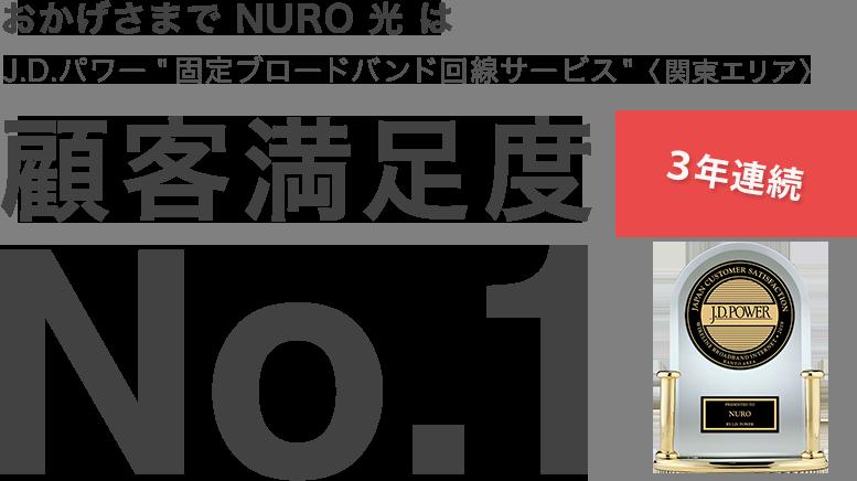 NURO光顧客満足度1位